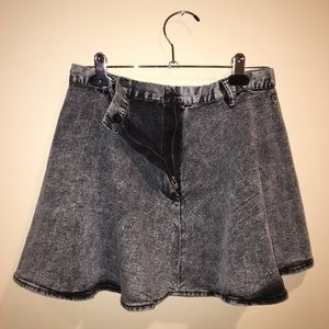 Divided 90s grunge Acid Wash skater skirt, size 6